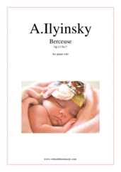 Cover icon of Berceuse (Lullaby) Op.13 No.7 sheet music for piano solo by Alexander Ilyinsky, classical score, intermediate skill level