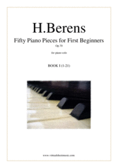 Fifty Piano Pieces for First Beginners (COMPLETE) for piano solo - children exercise sheet music