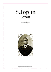 Cover icon of Bethena sheet music for violin and piano by Scott Joplin, classical score, intermediate skill level