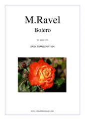 Cover icon of Bolero sheet music for piano solo by Maurice Ravel, classical score, easy/intermediate skill level