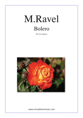 Cover icon of Bolero sheet music for two pianos by Maurice Ravel, classical score, advanced duet