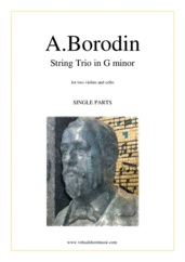 Cover icon of String Trio in G minor (parts) sheet music for string trio (two violins and cello) by Alexander Borodin, classical score, advanced skill level