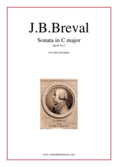 Breval - Cello Sonata in C major Op 40 No 1 sheet music for cello and piano