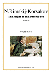Cover icon of The Flight of the Bumblebee (parts) sheet music for flute trio by Nikolai Rimsky-Korsakov, classical score, advanced skill level