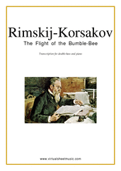 Cover icon of The Flight of the Bumblebee sheet music for double-bass and piano by Nikolai Rimsky-Korsakov, classical score, advanced skill level
