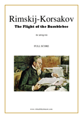 Cover icon of The Flight of the Bumblebee (COMPLETE) sheet music for string trio by Nikolai Rimsky-Korsakov, classical score, advanced skill level