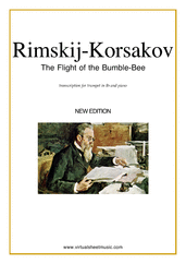 Cover icon of The Flight of the Bumblebee sheet music for trumpet and piano by Nikolai Rimsky-Korsakov, classical score, advanced skill level