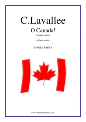 Cover icon of O Canada! (parts) sheet music for brass quintet by Calixa Lavallee, easy/intermediate skill level