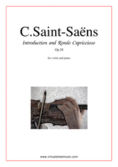 Cover icon of Introduction and Rondo Capriccioso sheet music for violin and piano by Camille Saint-Saens, classical score, advanced skill level