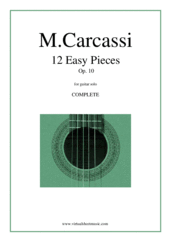Cover icon of 12 Easy Pieces Op.10 (COMPLETE) sheet music for guitar solo by Matteo Carcassi, classical score, intermediate skill level
