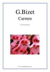 Cover icon of Carmen sheet music for violin and piano by Georges Bizet, classical score, intermediate skill level