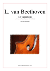 Cover icon of 12 Variations from a theme by Handel sheet music for cello and piano by Ludwig van Beethoven, classical score, easy/intermediate skill level