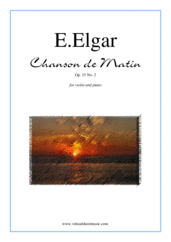 Cover icon of Chanson de Matin Op. 15 No. 2 sheet music for violin and piano by Edward Elgar, classical score, intermediate/advanced skill level