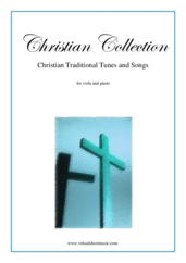 Cover icon of Christian Collection, Traditional Tunes and Songs sheet music for viola and piano, easy skill level
