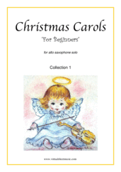"Cover icon of Christmas Sheet Music and Carols ""For Beginners"", coll.1 for alto saxophone solo, beginner skill level"