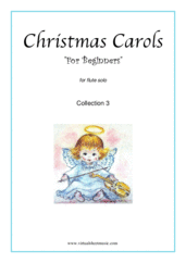 "Cover icon of Christmas Sheet Music and Carols ""For Beginners"", coll.3 for flute solo, beginner skill level"