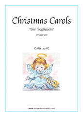 "Cover icon of Christmas Sheet Music and Carols ""For Beginners"", coll.2 for viola solo, beginner skill level"