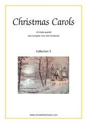 Cover icon of Christmas Sheet Music and Carols, coll.3 for brass quartet (2), intermediate skill level