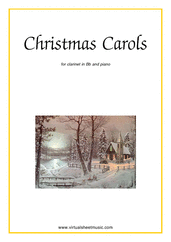 Cover icon of Christmas Sheet Music and Carols, coll.1 for clarinet and piano, easy skill level