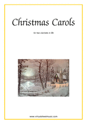 Cover icon of Christmas Sheet Music and Carols, coll.1 for two clarinets, easy duet