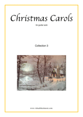 Cover icon of Christmas Sheet Music and Carols, coll.3 for guitar solo, easy/intermediate skill level
