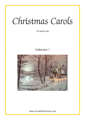 Christmas Carols (all the collections, 1-3) for guitar solo - guitar chords sheet music