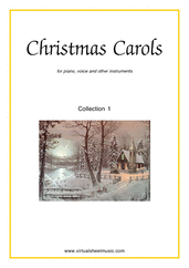 Christmas Carols (all the collections, 1-3) for piano, voice or other instruments - easy chords sheet music