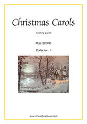 Cover icon of Christmas Sheet Music and Carols (all the collections, 1-3) (f.score) for string quartet, easy skill level