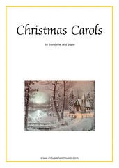 Cover icon of Christmas Sheet Music and Carols, coll.1 for trombone and piano, easy skill level