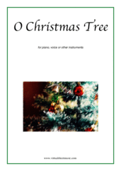 Cover icon of O Christmas Tree sheet music for piano, voice or other instruments, Christmas carol score, easy skill level