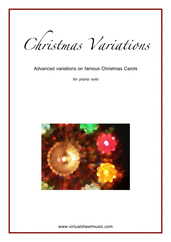 Cover icon of Christmas Variations (Advanced Christmas Carols) sheet music for piano solo, Christmas carol score, advanced skill level