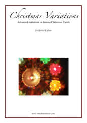 Cover icon of Christmas Variations (Advanced Christmas Carols) sheet music for clarinet and piano, Christmas carol score, advanced skill level