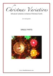 Cover icon of Christmas Variations - Advanced Christmas Carols (COMPLETE) sheet music for wind quartet, Christmas carol score, advanced skill level