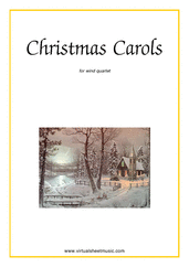 Cover icon of Christmas Sheet Music and Carols (all the collections, 1-3) for wind quartet, easy skill level