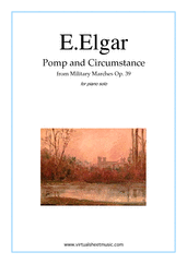 Pomp and Circumstance Op.39 for piano solo - intermediate edward elgar sheet music