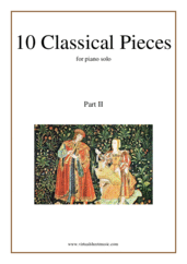 10 Classical Pieces collection 2 for piano solo - easy edward grieg sheet music
