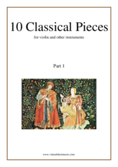 Cover icon of 10 Classical Pieces collection 1 sheet music for violin or other instruments, classical score, easy skill level