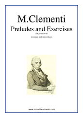 Cover icon of Preludes and Excercises sheet music for piano solo by Muzio Clementi, classical score, intermediate skill level