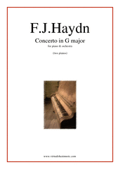 Cover icon of Concerto in G major sheet music for piano and orchestra (two pianos) by Franz Joseph Haydn, classical score, intermediate duet