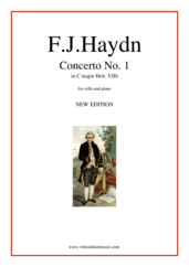 Cover icon of Concerto in C major (NEW EDITION) sheet music for cello and piano by Franz Joseph Haydn, classical score, intermediate/advanced skill level