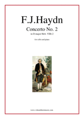 Cover icon of Concerto in D major sheet music for cello and piano by Franz Joseph Haydn, classical score, intermediate/advanced skill level
