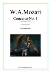 Concerto No.1 in G major K313 (NEW EDITION) for flute and piano - intermediate wolfgang amadeus mozart sheet music