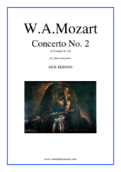 Concerto No.2 in D major K314 (NEW EDITION) for flute and piano - flute concerto sheet music