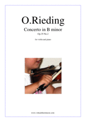 Cover icon of Concerto in B minor Op.35 No.2 sheet music for violin and piano by Oskar Rieding, classical score, easy/intermediate skill level