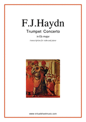 Cover icon of Concerto in Eb major sheet music for tuba and piano by Franz Joseph Haydn, classical score, intermediate skill level