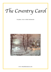 Cover icon of The Coventry Carol sheet music for piano, voice or other instruments, easy skill level