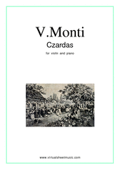 Czardas, easy gypsy airs for violin and piano - violin and piano sheet music