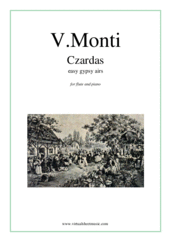 Cover icon of Czardas, gypsy airs sheet music for flute and piano by Vittorio Monti, classical score, intermediate/advanced skill level