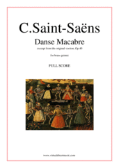 Cover icon of Danse Macabre (f.score) sheet music for brass quintet by Camille Saint-Saens, classical score, intermediate skill level