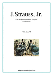 Cover icon of The Blue Danube (COMPLETE) sheet music for brass quintet by Johann Strauss, Jr., classical score, intermediate/advanced skill level